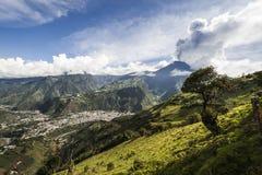 Wulkan Tungurahua, Ekwador, Ameryka Południowa Zdjęcie Royalty Free