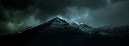 Wulkan uśpiony zdjęcia stock