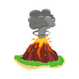 Wulkan ustalona wektorowa ilustracja ilustracji