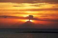 Wulkan w Sumbawa Obrazy Stock