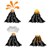 Wulkan Wybucha szczyt góra Ognisty krater ilustracja wektor