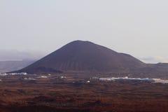 wulkan wymarły Arrecife, Lanzarote, Hiszpania Zdjęcie Royalty Free