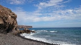 wulkaniczna na plaży Obrazy Stock