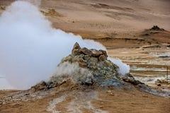 Wulkanu fumarole w Iceland Fotografia Royalty Free