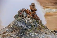 Wulkanu fumarole w Iceland2 Fotografia Royalty Free