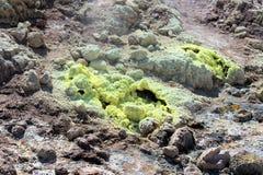 Wulkanu krater, Nisyros Greece Fotografia Stock