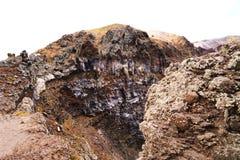 Wulkanu Vesuvius krater Powulkaniczne skały i tekstury Obrazy Stock