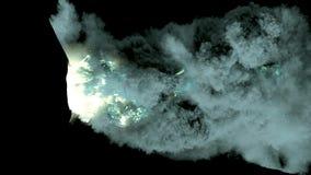 Wulkanu wybuchu 3d animaci alfa kanał royalty ilustracja