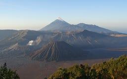 Wulkany w Wschodnim Jawa Obraz Royalty Free
