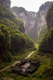 Wulong-Dreckloch und Tienfu-Penthaus Lizenzfreie Stockfotografie