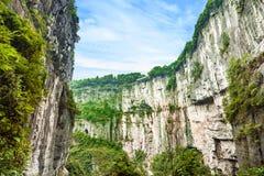 Wulong krasu Światowy Naturalny dziedzictwo, Chongqing, Chiny zdjęcia stock