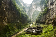 Wulong Nationaal Park, Chongqing, China Stock Afbeelding