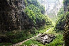 Wulong nationalpark, Chongqing, Kina arkivfoton