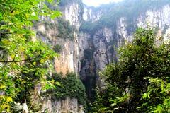 Wulong parkerar nationellt geologiskt royaltyfri fotografi
