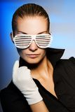 Wuman with stylish  sunglasses Royalty Free Stock Images