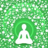 Wumen de yoga Images libres de droits