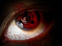 Wunde betonte Augen Stockfoto