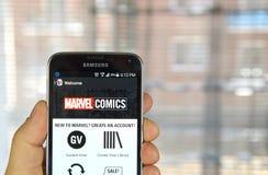 Wunder-Comics-APP Stockbilder