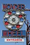 Wunder-Rad am Coney Island-Vergnügungspark Stockfotografie