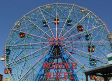 Wunder-Rad am Coney Island-Vergnügungspark Stockfotos