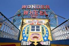 Wunder-Rad am Coney Island-Vergnügungspark Stockfoto