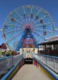 Wunder-Rad am Coney Island-Vergnügungspark Lizenzfreie Stockfotos