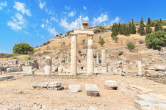 Wunderbare alte Ruinen in Ephesus, die Türkei Lizenzfreie Stockbilder