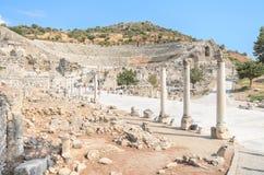 Wunderbare alte Ruinen in Ephesus, die Türkei Stockbild