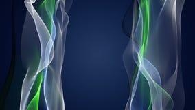 Wunderbare eco Animation mit beweglichem Wellengegenstand, Schleife HD 1080p stock footage