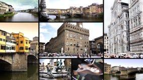 Wunderbare Florenz-Collage stock footage