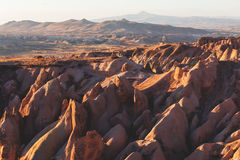 Wunderbare Landschaftsansicht Cappadocia lizenzfreie stockfotos