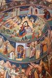 Wunderbare orthodoxe Ikonen Heilig-Anna--Rohiakloster, aufgestellt in einem natürlichen und lokalisierten Platz, in Maramures, Si Stockbilder
