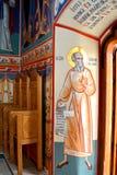 Wunderbare orthodoxe Ikonen Heilig-Anna--Rohiakloster, aufgestellt in einem natürlichen und lokalisierten Platz, in Maramures, Si Lizenzfreie Stockfotografie