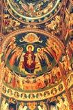 Wunderbare orthodoxe Ikonen Heilig-Anna--Rohiakloster, aufgestellt in einem natürlichen und lokalisierten Platz, in Maramures, Si Lizenzfreies Stockfoto
