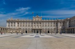 Wunderbare Royal Palace von Madrid, Spanien lizenzfreie stockfotos