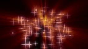 Wunderbare Weihnachtsanimation mit bewegenden Sternen und Lichtern, Schleife HD 1080p lizenzfreie abbildung