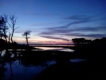 Wunderbarer Abend Stockbild