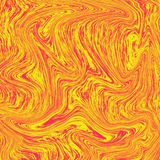 Wunderbarer flüssiger Marmor des Lavahintergrundes Die Kombination von Gelbem und von Rotem Flüssige Zusammenfassung der orange T vektor abbildung