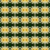 Wunderbarer gelber Lotos in voller Blüte nahtlos vektor abbildung