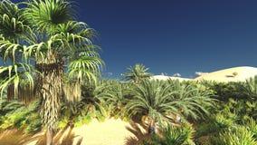 Wunderbarer Gesichtspunkt auf Sahara-Wüste an der Wiedergabe des Sonnenuntergangs 3d Lizenzfreies Stockbild