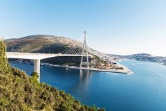 Wunderbarer Seeanblick von Dubrovnik Stockfoto