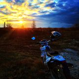 Wunderbarer Sonnenuntergang Lizenzfreie Stockfotos
