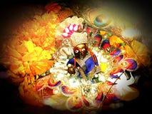 Wunderbares Bild des Kindes Krishna stockfoto