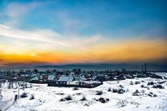 Wunderbares Dorf in Sibirien Stockbilder