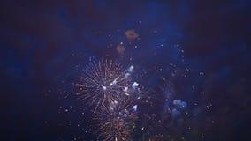 wunderbares Feuerwerk stock footage