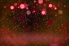 Wunderbares glänzendes Funkelnlichter defocused bokeh abstrakter Hintergrund mit Funken fliegen, festliche Modellbeschaffenheit m vektor abbildung