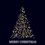 Wunderbares Weihnachtsbaumdesign lizenzfreie abbildung
