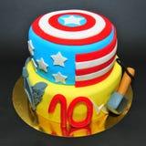 Wundercomics-Charakterkuchen: Kapitän Amerika und Thor Lizenzfreie Stockfotos