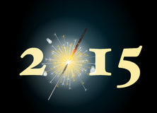 Wunderkerze 2015 Lizenzfreie Stockbilder