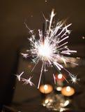 Wunderkerze - Feuerwerke Stockfoto